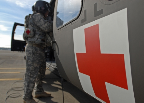 82nd CAB trains with new medevac helicopter