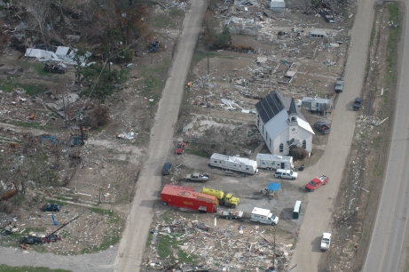 Empire, La., in ruins, months after Hurricane Katrina's landfall.